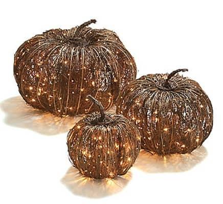 prelit grapevine halloween pumpkin