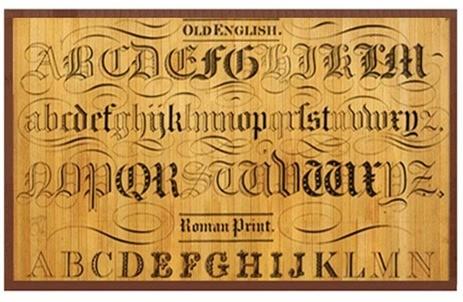 typography bamboo floor mat