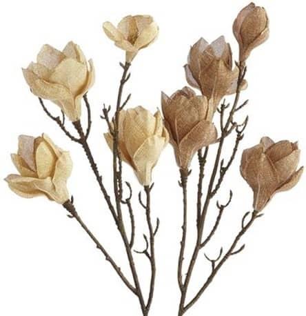 Burlap Magnolia Branch Stems
