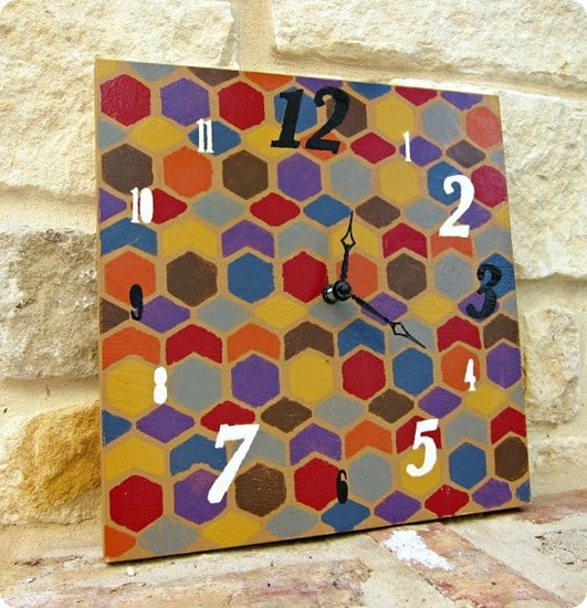DIY Colorful Clock
