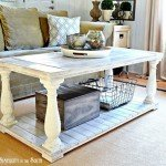 Salvaged Wood Balustrade Coffee Table