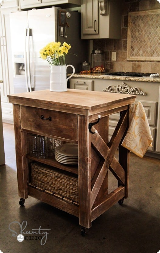 diy wood kitchen island