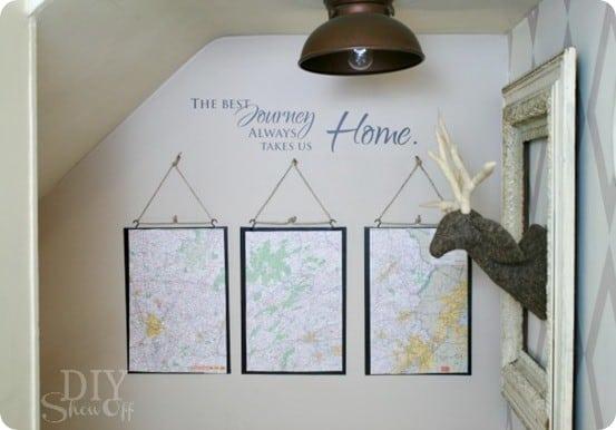 PB-inspired-Map-Triptych-DIY-