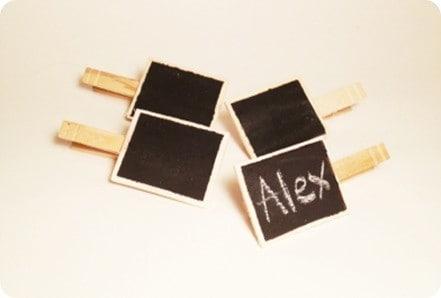 diy chalkboard clips