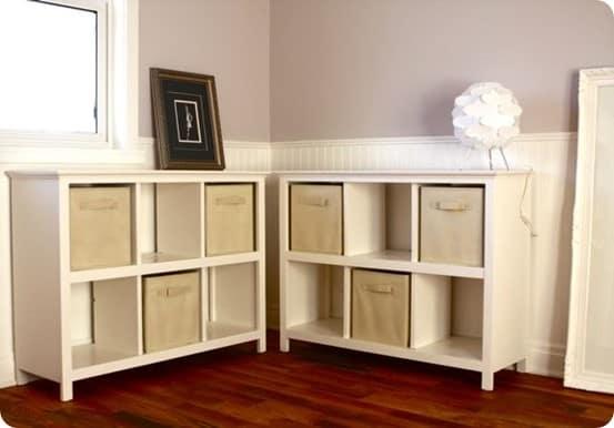 diy cubby shelves