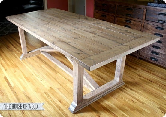 Rustic Yet Refined X Dining Room Table
