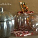 Faux Mercury Glass Pumpkin Jars