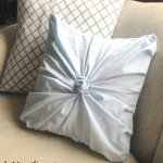 Secondhand Sheet to Stylish Rosette Pillow