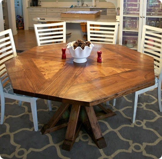 one of a kind octagon dining room table