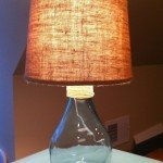 glass lamp from vase