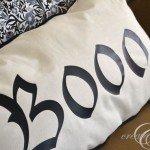 """""""Boo"""" Halloween Lumbar Pillow"""