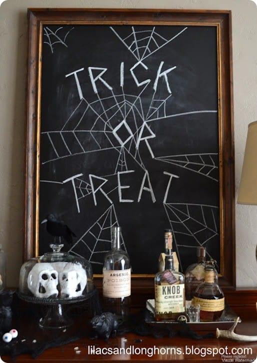 Diy Chalkboard With Halloween Chalk Art Knockoffdecor Com