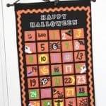 Felt Halloween Countdown Calendar