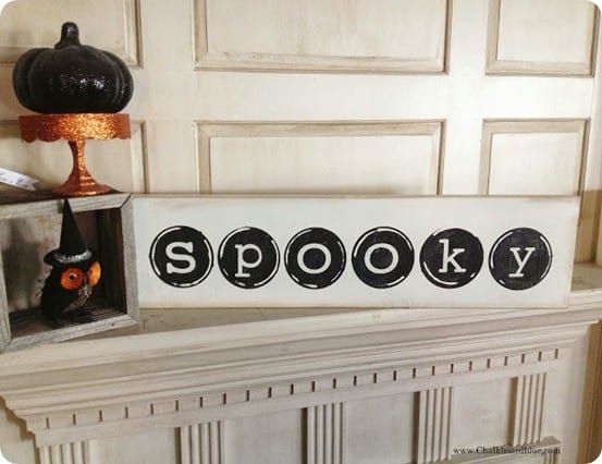 halloween typewriter keys sign