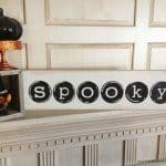 """Spooky"" Typewriter Keys Halloween Sign"