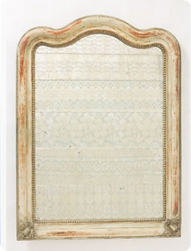 lace etched arched mirror