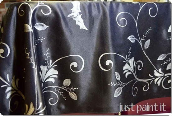 painted halloween table topper