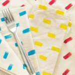 Dress Up Your Table with Painted Pattern Napkins