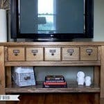 pottery barn inspired media console