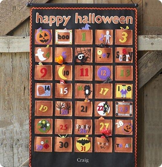 pottery barn kids halloween countdown calendar