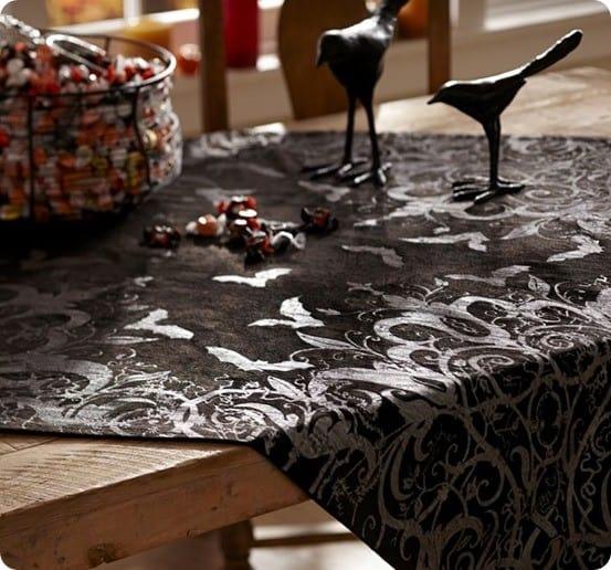shiny spooky table throw