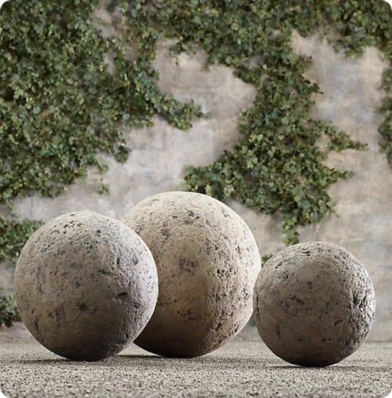 stone garden spheres