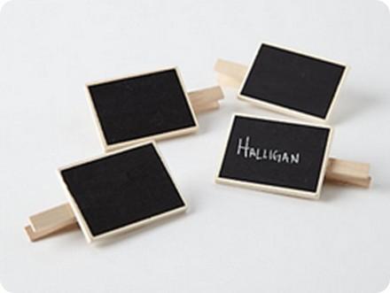 wooden chalkboard clips