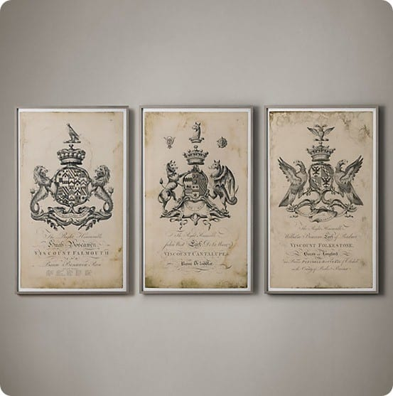 18th c english armorial engravings