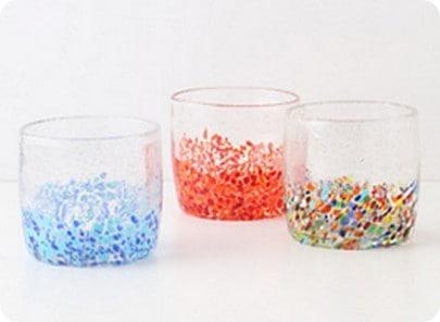 anthro confetti glass