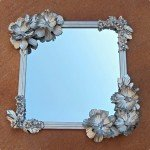 anthro inspired flower mirror