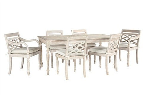 ceylon whitewashed dining collection