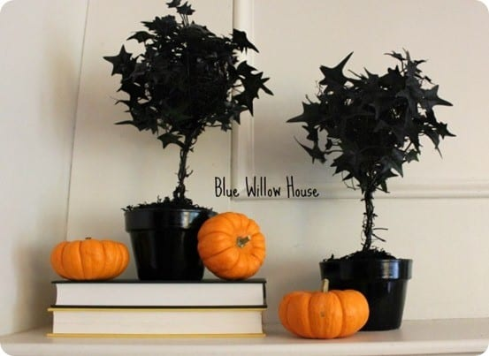 diy black topiary