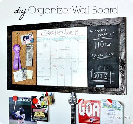 diy command center calendar