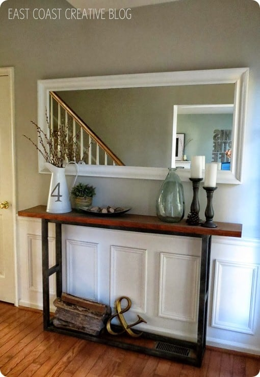 Rustic Wood Console Table Knockoffdecor Com
