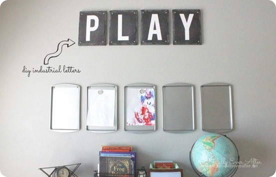 diy industrial letters