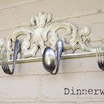 Kitchen Hook Rack from Forks and Spoons