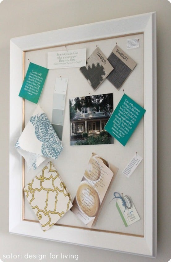 Old Frame To Fabric Message Board