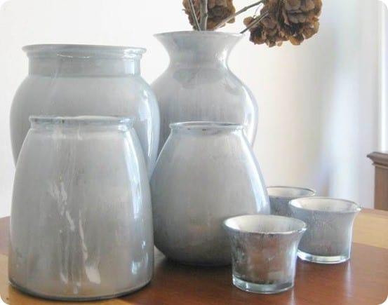 Milky Mercury Glass Vases