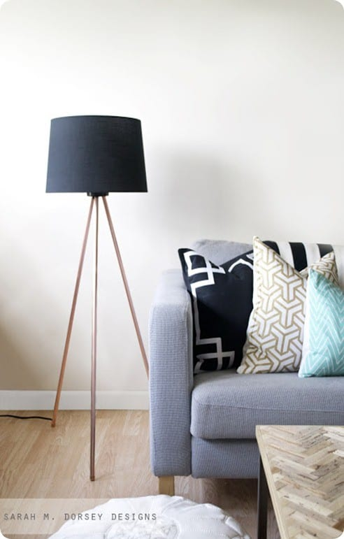 Modern Tripod Lamp From Piping Knockoffdecor Com