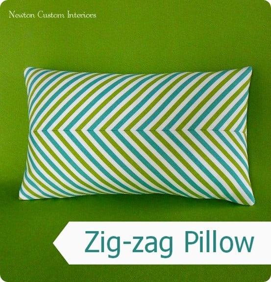 diy zigzag pillow