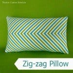 Zigzag Pillow from Striped Fabric