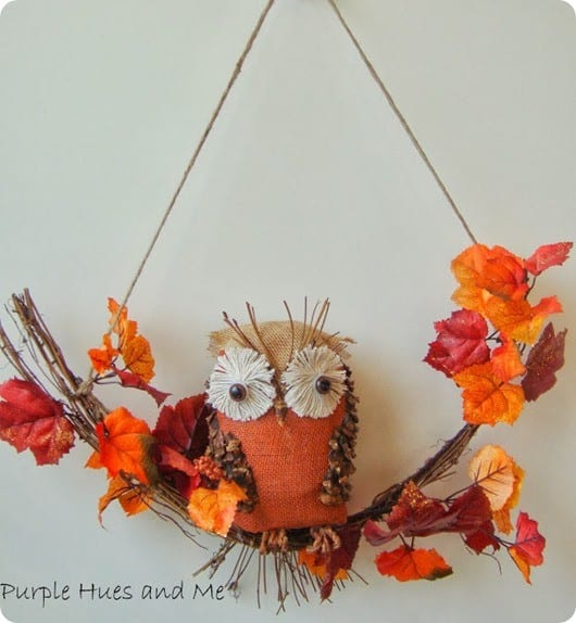 fall owl swag