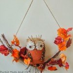 Burlap Owl Swag Wreath