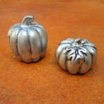 Dollar Store Pumpkins with a Pricey Pewter Finish