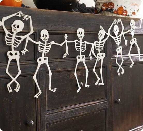 felt skeleton garland