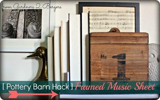 frame sheet music