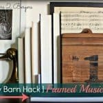 Easy Framed Sheet Music Art