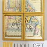 Vintage Framed Map Wall Art