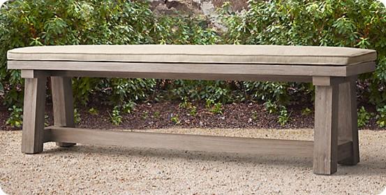 french beam dining bench