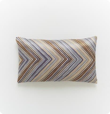 multi zigzag pillow cover